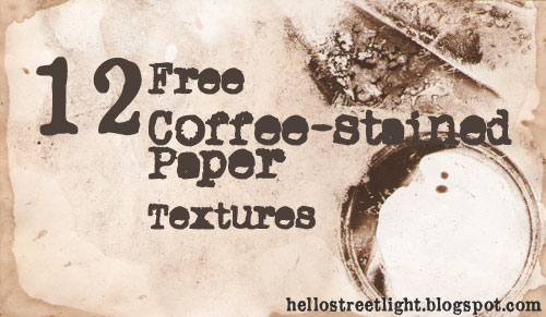 Free Hi-Res Coffee-Stained Paper Texture Pack
