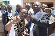 ANC president Cryril Ramaphosa and four members of the the party's top six paid Zulu King Goodwill Zwelithini a courtesy visit at his Osuthu Palace in Nongoma in northern KwaZulu-Natal on Sunday.