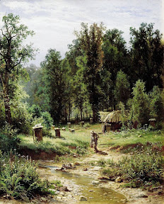Пасека в лесу.1876 год.jpg