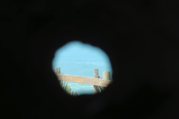 Through the hole