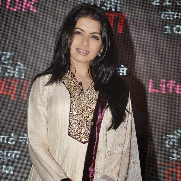 Bhagyashree during the launch of the TV serial Laut Aao Trisha, held at Westin Mumbai. (Pic: Viral Bhayani)