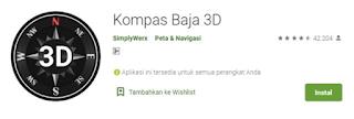 rekomendasi aplikasi compass android kompas baja 3D