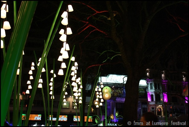 Garden of Light in Leicester Square Lumiere