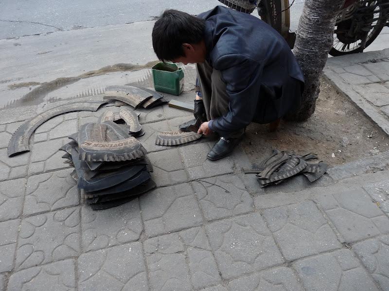 recyclage de pneus en semelles