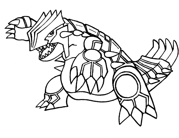 Coloring Pages Pokemon With Groudon Coloring Pages