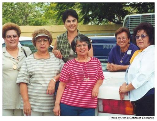 Corina Ramos Rodriguez, Minnie Montemayor Zamora, Annie Gonzalez Escochea, Olga Vasquez Falcon, Minnie Carranza Gutierrez, and Martha Cardenas Vela