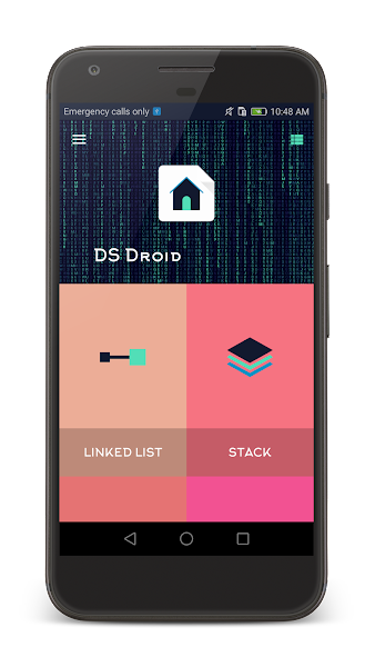 DsDroid: Data Structure Program using C