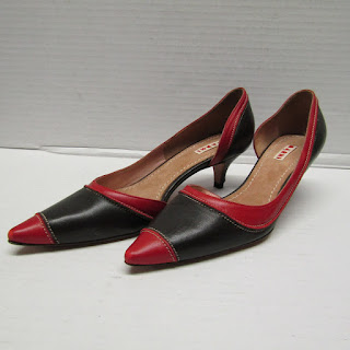 Marni Two-Tone Kitten Heels