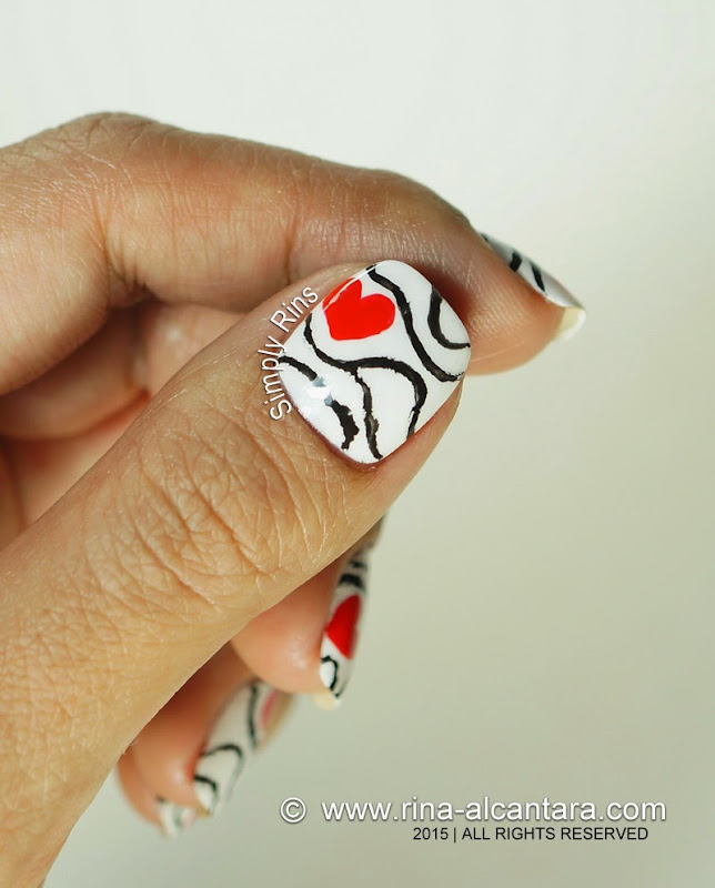 Accidental Love Nail Art Design