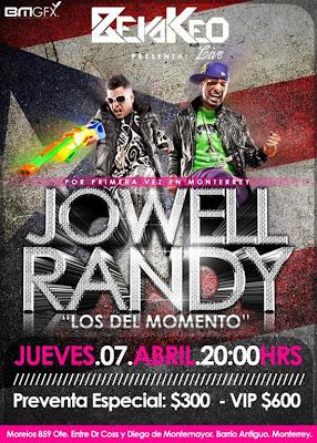 Jowell & Randy por primera Vez en Monterrey, Mexico 2011