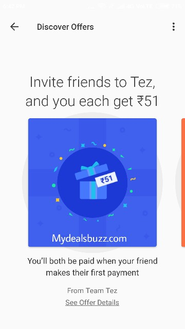 tez google earn real money cashbacks