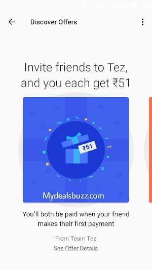 Google pay referral program - Earn upto ₹9000  by inviting friends