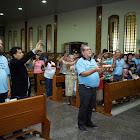 Prefeito Carlin Moura participou da missa na região do Riacho