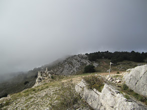Photo: Gourdon Launch in the clouds