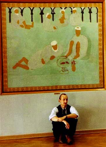 At the Hermitage Museum in St Petersburg, resting beneath Matisse.