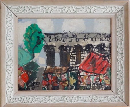 Carla's painting of Paris at 9 years old. Artist Carla O'Connor, AWS-df/NWS