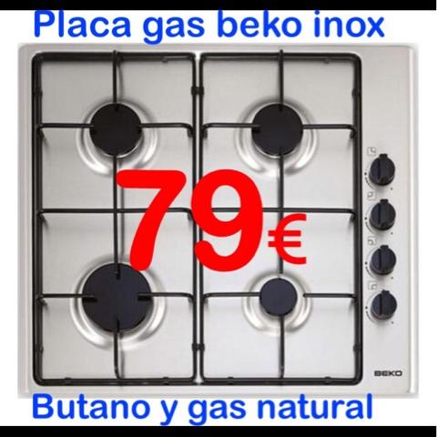 Electrooutlet murcia encimera placa gas butano beko inox - Placas de gas butano ...