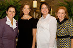 Michal Powell, 2009 Luncheon Chair; hostess Lisa Troutt; Deidrea Laux; CFL president Elizabeth Robinson.