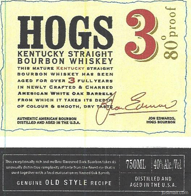 Hogs 3 Kentucky Straight Bourbon Whiskey