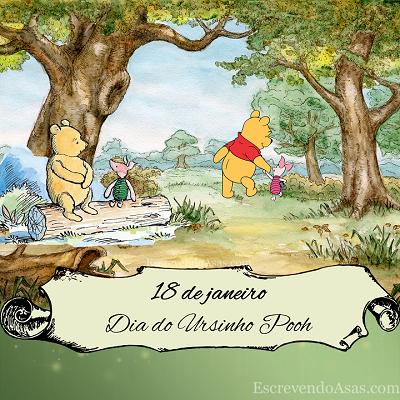 18 de janeiro - Dia do Ursinho Pooh (National Winnie the Pooh Day) - Leitão floresta desenho