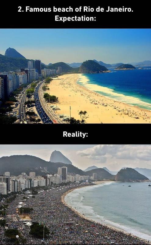 Rio De Janeiro Beach Expectations vs. Reality