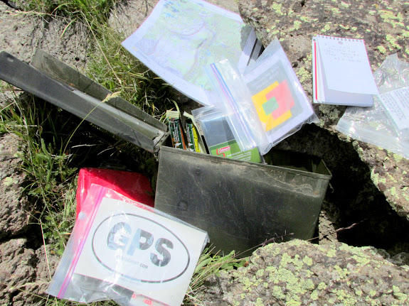 Geocache near the summit that hadn't been found in four years