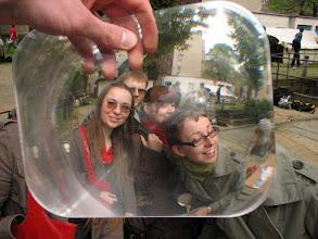 Photo: Soczewka Fresnela w akcji