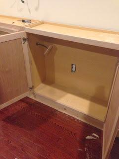 cabinets mounted on base