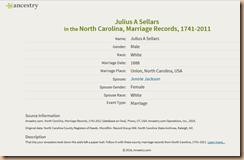 Sellers-Jackson 1888 Marriage