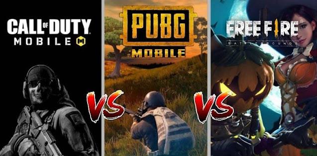 PUBG Mobile vs Free Fire vs COD Mobile: Hangisini seçmelisiniz?