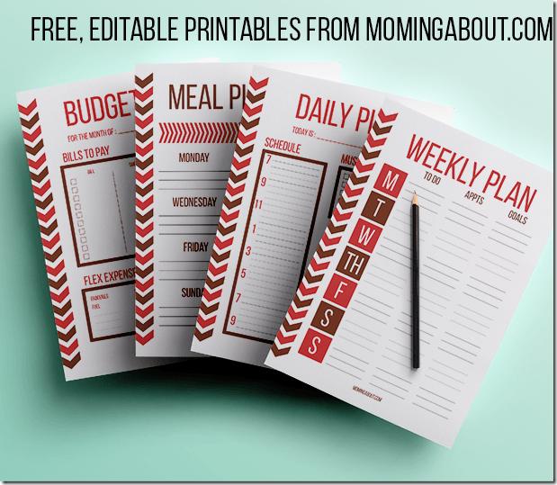 Free Editable Planner Printables