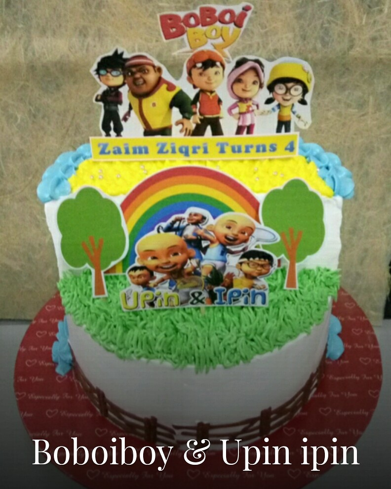 szcutesweet: Upin ipin birthday cake