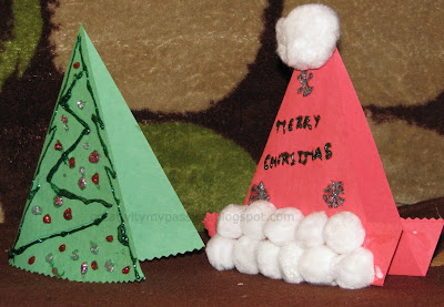 Santa Hat, Christmas tree cards