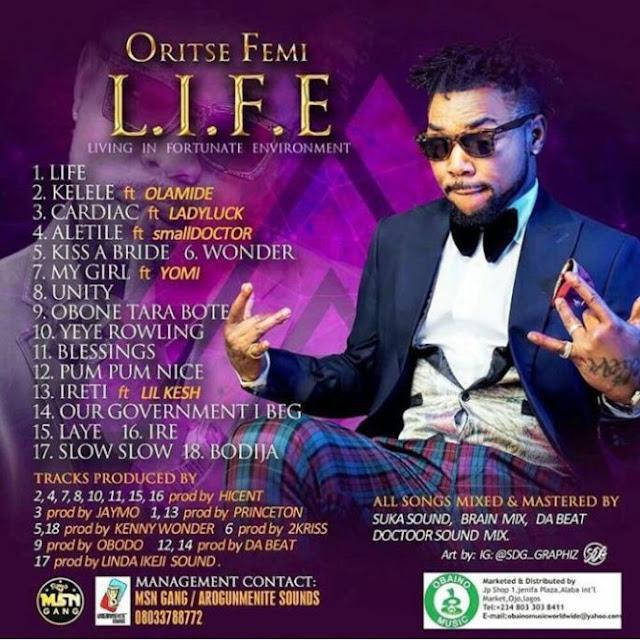 [Music] Oritse Femi - Ireti Ft. Lil Kesh | @LilKeshOfficial