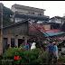 Bagian Belakang Kantor TMC Polres Sukabumi Runtuh Timpa Rumah Warga