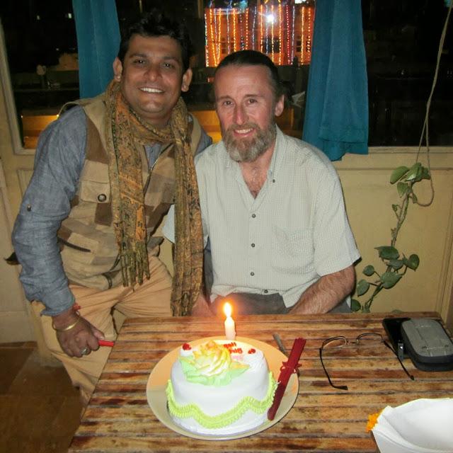 Birthday cake, thanks to the Hotel Shashi Palace, Jaisalmer