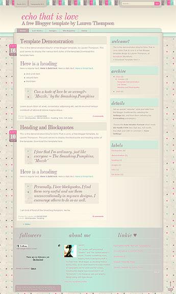 Kadınlar için blogger teması