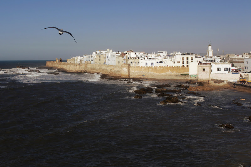 Vista de Essaouira dese la Skala du port