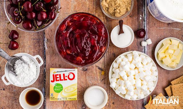 Cherry Pie Cheesecake Salad Recipe Ingredients