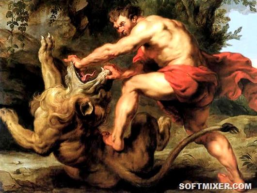 Samson et le lion 1628