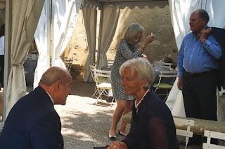 La rencontre a eu lieu hier en marge des journées économiques d'Aix-En-provence :Tête-à-tête Issad Rebrab-Christine Lagarde