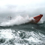 12 June 2011 - ILB surfacing during exercise in rough weather (southerly force 7, gusting 8, heavy rain) (Photo credit: Rob Inett)