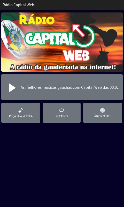 Rádio Capital Web- screenshot