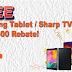 FREE 42' SHARP TV/SAMSUNG TABLET&RM500 OF REBATE   UNTILL 31 DECEMBER 2021