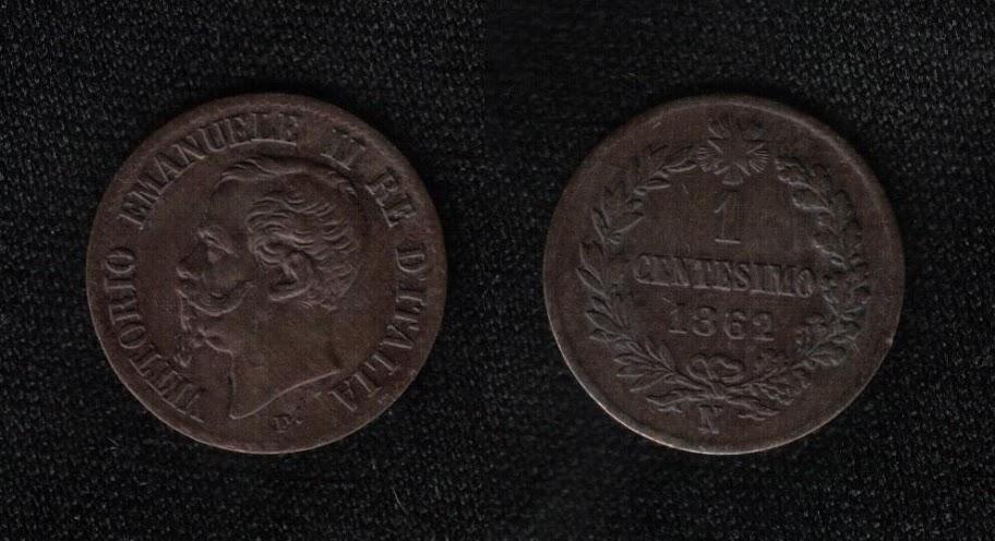 Mi colección de monedas italianas. 1%20centesimo%201862%20N
