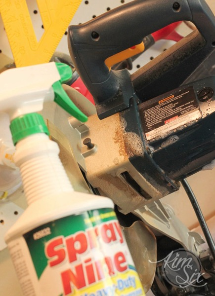 Using degreaser to clean power tools