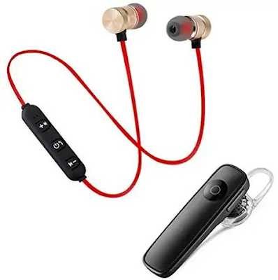 T4TALK k1 Bluetooth 4.1 Wireless Headset, Noise Canceling Hands-Free with Magnetic Wireless Bluetooth Sport in-Ear Earbuds & Mic Compatible with All Smartphones