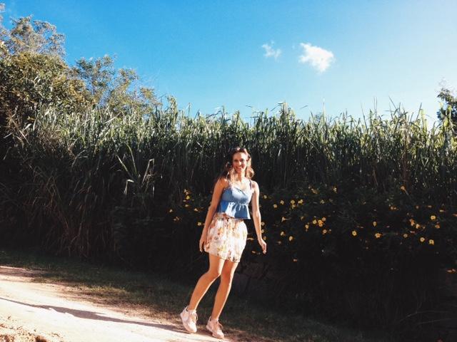 #editorial #ootd #jumping #flowers #flowerswall #pleatedskirt #denimtop #converse #runningsneakers #cropped #jeans #pulando #flores #parededeflores #saiaplissada #florida #floral #jeans #tênisdecorrida