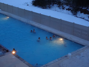 Photo: Outdoor pool and hottubs