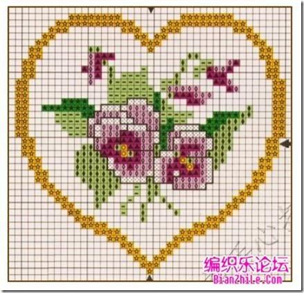 corazones en punto de cruz laborespuntocruz (28)